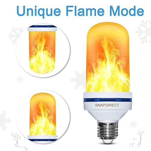 LED flackernde Flamme Glühbirne, Creative Leuchten mit flackerndem Emulation, Vintage Atmosphäre Deko, Simuliert Nature Gas Fire in Antik Hurricane hingucker. nnmit E26 Standard 1 Pack Flamme Snap