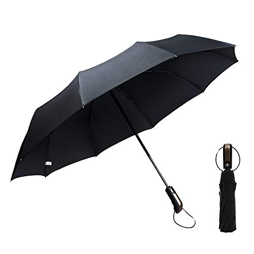 Ombrello Pieghevole Automatico 118cm nero