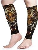 hdyefe Wütend und arrogant Tiger Calf Compression Sleeve - Beinkompressionssocken für Schienbeinschienen Wadenschmerzlinderung Fit für Männer Frauen a