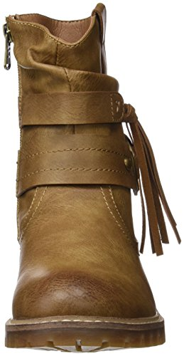 Refresh - 063875, Bottes Moto Femme Beige (camel)