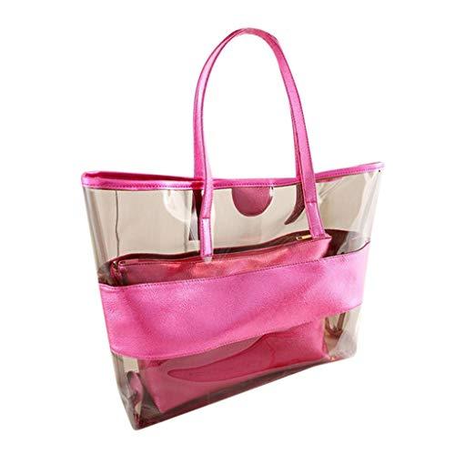 Transparent Beach Jelly Handbag, ODRD Art Weisedame Large Capacity Frauen Umhängetaschen Candy Strandtaschen Damentaschen Handtaschen Schultertasche Tasche Schulter Schultasche Satchel Travel - Candy Satchel