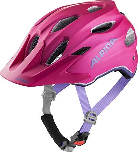 Alpina Mädchen Carapax JR. Flash Fahrradhelm, deeprose-Violet, 51-56 cm