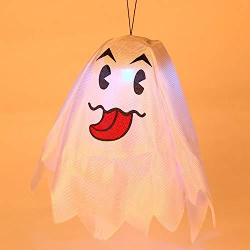 TINKOU Halloween Kürbis Lichter, Ghost Lights Festival Dekoration Requisiten Glühende Lichter für Halloween Weihnachtsschmuck (zufälliger Stil)