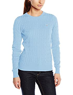 Gant Stretch Cotton Cable Crew - Suéter para Mujer