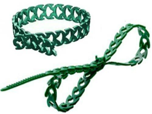 Rapstrap Kabelbinder (aus Gummi, wiederverwendbar in 48Stück Pcs Green Plant Raffhalter