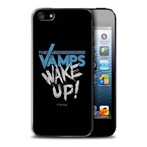 Offiziell The Vamps Hülle / Case für Apple iPhone 5/5S / Weiß/Schwarz Muster / The Vamps Graffiti Band Logo Kollektion Aufwachen!