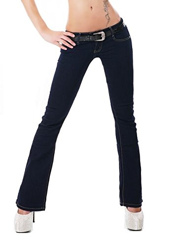 Womens Ladies dark Blue Classic Bootcut stretch Jeans Sizes UK 6 8 10 12 14