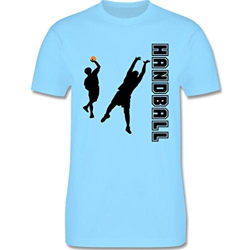 Handball - Handball Wurf Verteidigung - Herren Premium T-Shirt Hellblau