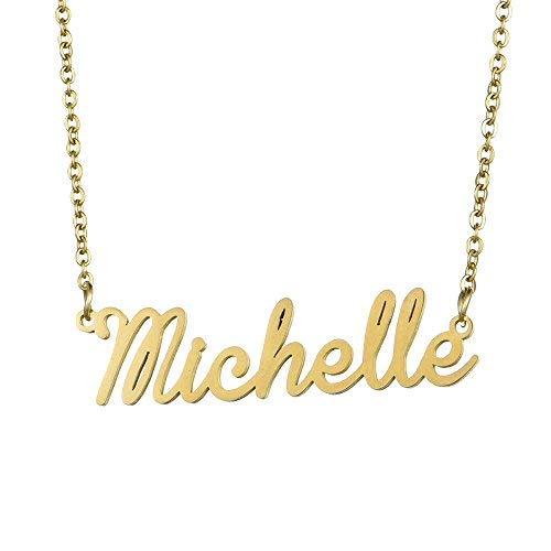 Name Halskette personalisiert, Name Halskette Kursive Schrift mit Namen Anhänger 16
