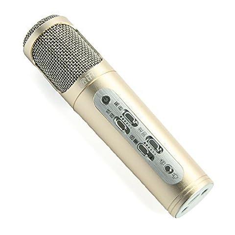 Tuxun K098 Portable USB Musik Mikrofon für Tragbare Audio-Aufnahme PC Laptop iPhone iPod Android Smartphone Karaoke Gold