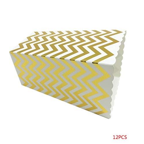 Jinzuke 12PCS / Set Schöne Popcorn Box Süßigkeit sanck Favor Taschen Streifen-Geschenk-Beutel Hochzeitsfestbevorzugung Kinder Kino Party Supplies