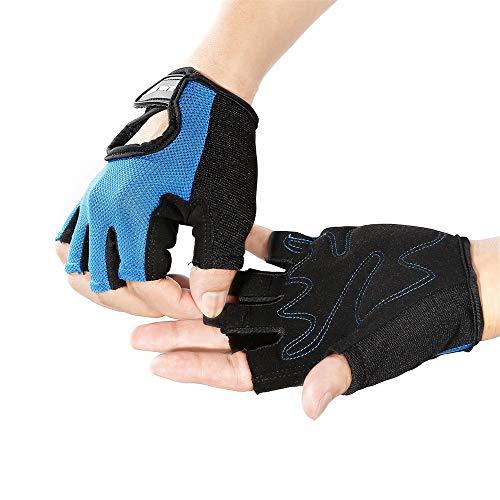 Cebbay Gants de Fitness, Gants Homme Femme Musculation Sport Mitaines Robustes Bonnes Sensations Facile à Enfiler et Enlever Parfait pour Cross Fit VTT Vélo Cyclisme Gym etc.Gloves
