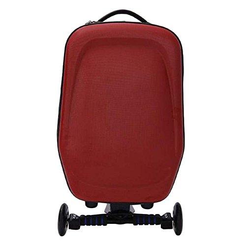 Hrph Hard Shell auf Rädern Räder Roller-Gepäck-Koffer mit Skateboard für Reisebüros New 21inch (Koffer Skateboard)