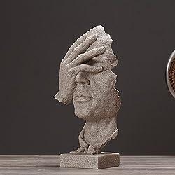 LINGZHIGAN Moderne Von Einrichtungs Abstrakte Figuren Skulptur Modell Harz Handwerk Weichen Dekorationen ( design : E )