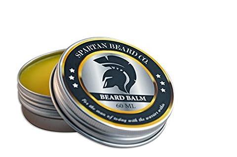 Spartan Beard Balm (60 ml) – Leave-In Conditioner für Männer, reduziert Frizz, Locken und Spliss (Lavanda Body Wash)