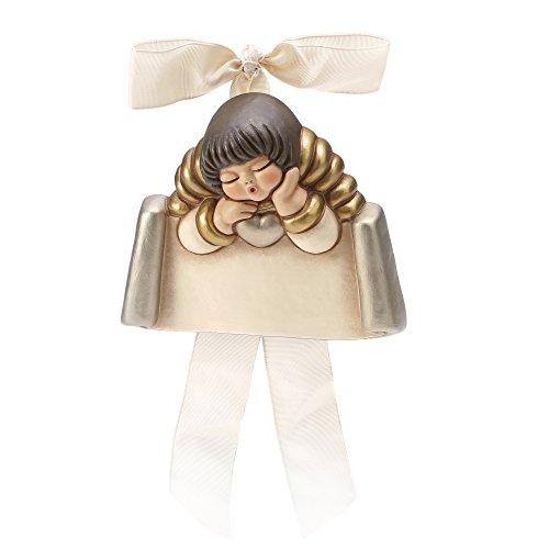Thun angelo con targhetta ceramica 11 cm h