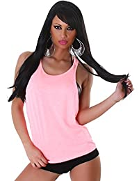 Jela London Ladies réservoir LOOSE top chemise col rond longueur de la hanche Trendy T-Shirt Sport Loisirs