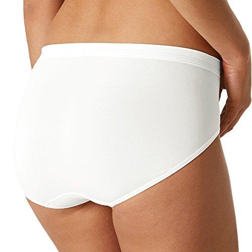2er Pack Mey Damen Taillen-Pants - 59209 Emotion - Farbe Weiß, Schwarz - Größe 38 bis 52 - Slip ohne Seitennähte - Unterhose Große Größen - Maxislip - Taillenslip - UNWAGO Set Weiß