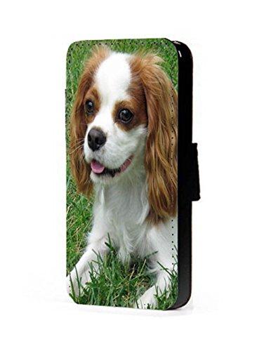 Cavalier King Charles Spaniel Chien Téléphone portable étui portefeuille en imitation cuir pour iPhone 45C 6S Samsung S6S5S4S3Mini, Cuir synthétique, iPhone 6/6s