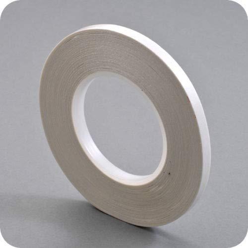 Doppelseitiges Klebeband 50 M - Breite 3 mm -handreißbar - transparent - perfekt zum basteln - stark haftend - optimal für Papier, Stoffe, Aluminium, Metall, Holz Glas, Keramik -Top Anfangshaftung
