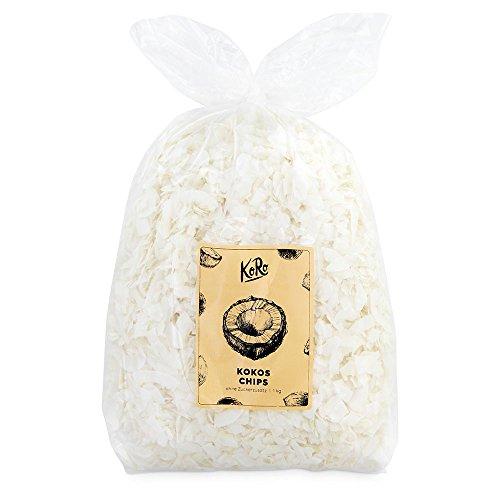 Kokoschips ohne Zuckerzusatz ● Ungeröstet Trotzdem Knackig ● Schwefelfrei ● 1 kg Vorteilspackung ● KoRo
