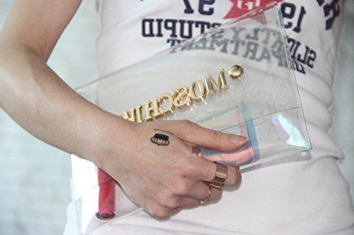zarapack personnaliser votre propre Étui transparent hologramme Transparent d'embrayage sac à main sac à main, Style 1 (Transparent) - BA924 Style 3
