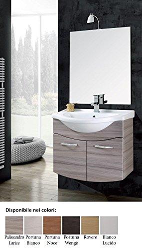 mobile da bagno con lavabo sospeso con specchio Vittoria Arredo ...
