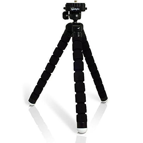 igadgitz Leichtgewichts Large Universal Ultraflexibel Schaum Dreibeinstativ Mini-Stativ für SLR DSLR Kameras mit Schnellwechselplatte -