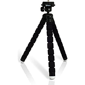 Black PT100 Large Flexipod with Foam grip legs and quick release plate for Camera