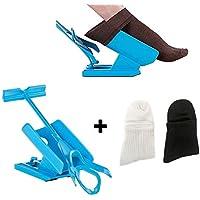 Dkina Sock Slider Easy on and off, Kit Deslizante Helper Sock, Calcetines Calzador y Calcetines Contorneado, Calzador de Medias y Calcetín, Calzador de Calcetines(1 Slider + 2 Calcetines)