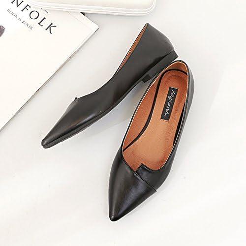 Xue Qiqi Zapatos de la Corte Zapatos Planos de Punto Boca Baja con Zapatos Planos Femeninos Bajos con Zapatos...