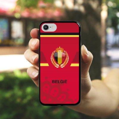 Apple iPhone X Silikon Hülle Case Schutzhülle fussball fußball emtrikot Hard Case schwarz