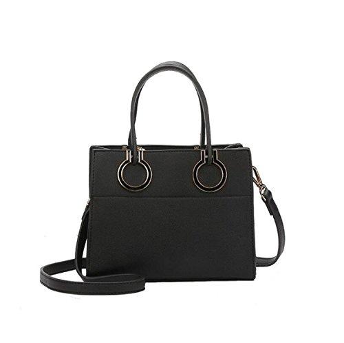 Einfache Persönlichkeit Art Und Weise Wilde Schulterbeutel Diagonale Pakethandtasche Black