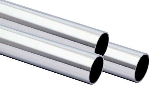Edelstahlrohr geschw. 33.7 x 2mm 1.4301 240 Korn geschliffen von 100-3000mm 600