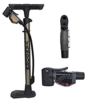 Vandorm Super Lite Alloy Bicycle Lightweight Presta Schrader Universal Bike Tyre Inner Tube Track Pump from Vandorm