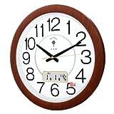 Wall Clocks Orologio da parete campana famiglia pendolo Muto soggiorno orologio calendario perpetuo orologio da polso moderno orologio al quarzo creativo grafici murali 1 64246 calendario grano legno