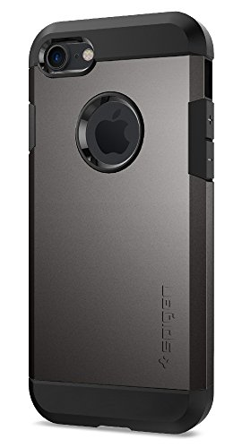 Coque iPhone 7, Spigen [Tough Armor] HEAVY DUTY [Gunmetal] Slim Dual Layer Protective Housse Etui Coque Pour iPhone 7 (2016) - (042CS20489)