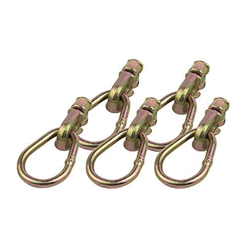 LABT 10x Doppelfitting ovaler Ring Endbeschlag Endfitting für Airlineschiene/Zurrschiene zur Ladungssicherung