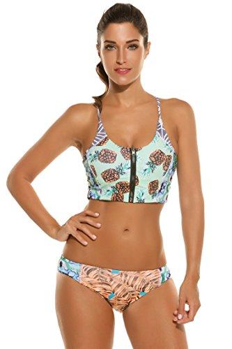 Saiclot-Baador-Bikini-Traje-de-Bao-dos-piezas-Sujetador-Acolchado-de-Estampado-Flor-de-la-Playa-para-Mujer