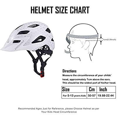 Exclusky Kids/Child boys cycle Helmets for Bike Skating Scooter Adjustable 50-57cm(Ages 5-13) from Exclusky