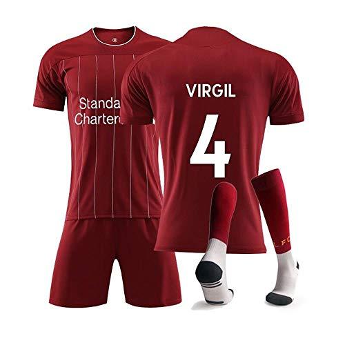 Football Fußball-Junge # 4 Fußball-Sportbekleidung Für Fußballfans Virgil Jersey 2019 Sportanzug Fußball-T-Shirt und Shorts- Erwachsene & Kinder (24)