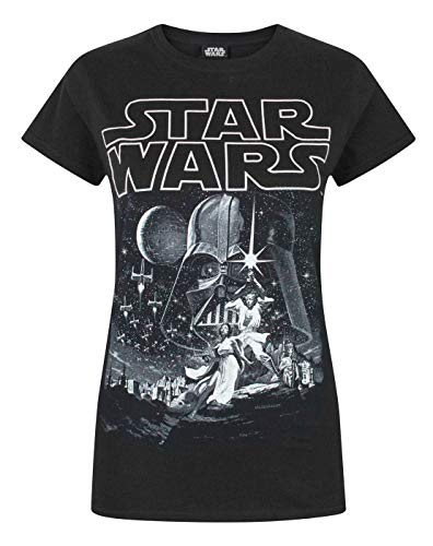 Star Wars A New Hope Poster Women's T-Shirt (L)