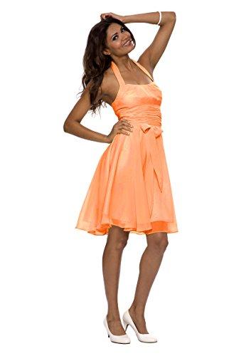 f7a947ce041685 Astrapahl, Neckholder Cocktailkleid, Abendkleid, Festkleid, knielang, Farbe mango  Mango ...
