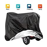 VVHOOY Mobility Scooter Cover, 210D Oxford Heavy Duty Waterproof 4 Wheel Power Scooter Travel Storage Cover All-Weather Outdoor Protection 67 x 24 x 46 inch/170 x 61 x 117 cm