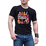 Photo de WUWUJYOU Homme Shirt RuPaul's Drag Race All Stars Poster Manches Courtes Black par WUWUJYOU