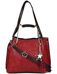 ISweven Women's Stylish Handbag | PU Leather Shoulder Bags For Women | Women's Satchel | Party Wear Handheld Sling... - B07CZL844T
