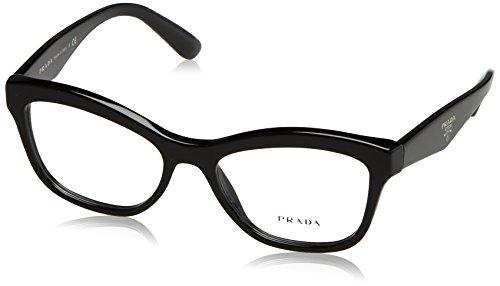 Prada Für Frau 29r Black Kunststoffgestell Brillen, 54mm