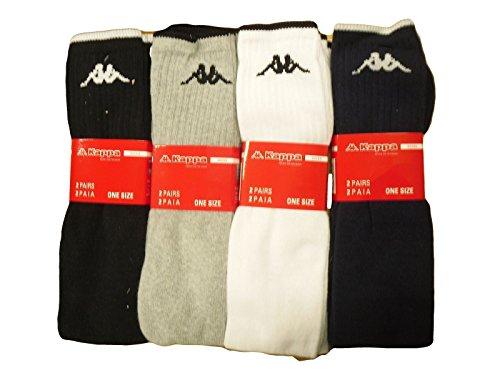N.6 paia calze lunghe 70 cm calzettone uomo donna kappa spugna di cotone sport lavoro colore grigio