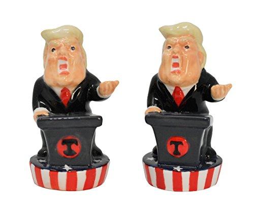 home-x-Donald Trump Salz und Pfeffer Set, Lustige Salz- und Pfefferstreuer Spice zu beliebigen Mahlzeit (Cayenne-pfeffer Salz)