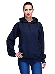 Scott International Navy Blue Cotton Womens Comfort Styled Hooded SweatShirtlssl6xl